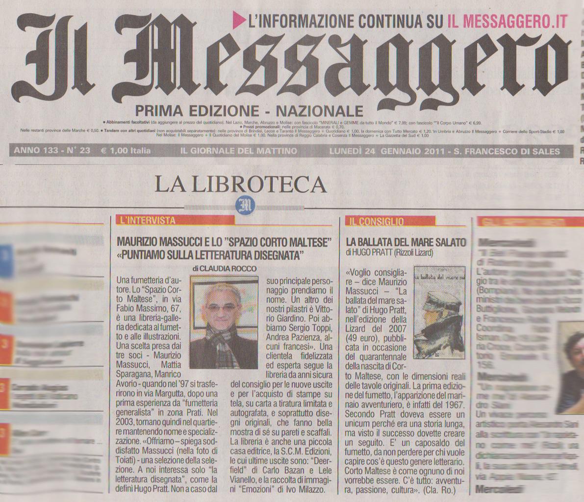 Il Messaggero - 24 Gennaio 2011